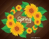 Free spring sunflower design