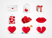 Valentine's Day Icons of Love Symbols (Free)
