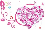 Beautiful Heart with Floral Ornament