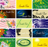 Background of a number of practical card template vector mat