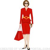 LADY IN RED VECTOR CLIP ART.eps