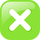 green square submit icon