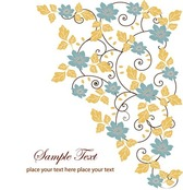 Free Floral Swirl Greeting Card