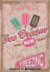 Retro Ice Cream Poster Design New Tastes