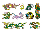 Chinese Classical Dragon Vector Graphic Of The Seven