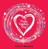 Doodle Heart Vector Valentine's Day Card
