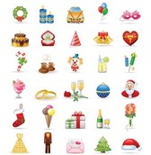 42 Festive Party Drink Vector Icons Pack