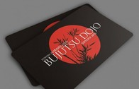 Dark Rounded Corner Business Card Template PSD