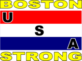USA stripe flag Boston strong