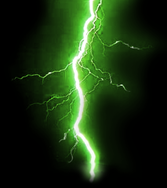 Green Lightning Background PSD