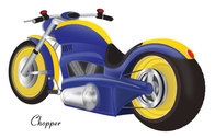 Chopper Motorcycle Vector Free