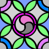Leaded Glass Triskell color