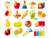 Beautiful toys for children vector-4