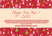Happy New Year Vector kaart