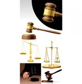 Justice Theme Scales Gavel