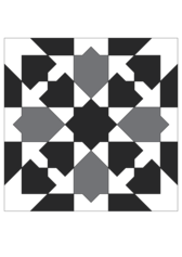 Moorish glazed earthenware tile pattern 2