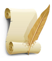 The Old Paper And Quill Pen