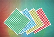 4 Colorful Gingham Squares Vector Patterns