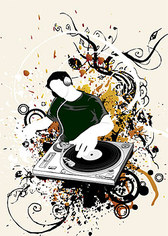 DJ trend vector design elements with a wide range of materia