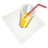 GLASS WITH STRAW VECTOR GRAPHICS.eps