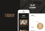 Trendy - Creative One Page PSD Template EXCLUSIVE