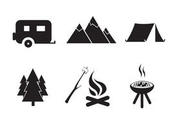Vector Free Camping Icon Set