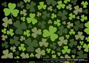 St Patrick's Clover Background
