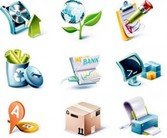 Stock Ilustrations 3D IconSet Vector#2