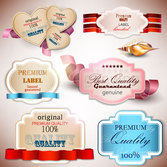 The exquisite label design vector-3