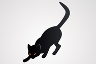 Black Cat Vector Illustration (Free)