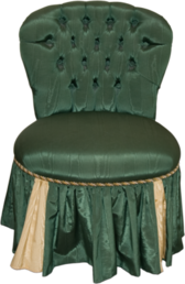 Button Back Bedroom Chair PSD