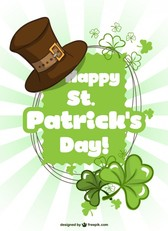 St Patrick's vector template