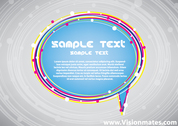 Blue Speech Bubble Vector Free