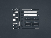 Dark UI Kit (Part 1 of 2)