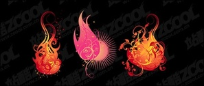 Flame pattern vector modeling material