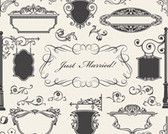 Vintage Ornamental and Design elements