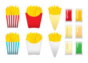 Fries With Condiments