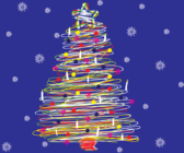 Free Scribble Christmas Tree