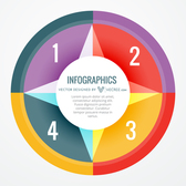 Creative Abstract Colorful Circular Infographic