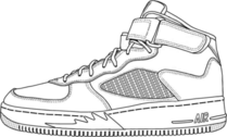 jordan shoes PSD