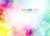 Colorfully Abstract Flower Design Background