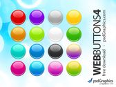 PSD round web buttons set