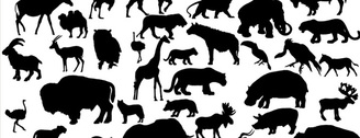 Free Vectors: Set of 41 Animal Vector Silhouettes