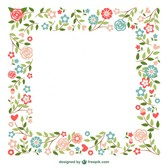 Ornamental frames flowers design