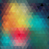 Colorful Polygonal Triangles Diamond Pattern