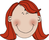 Womans Face With Red Hair
