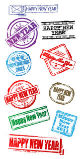 New Year's Postmark Vector New Year 2011 Happy New Year