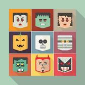 HALLOWEEN FACES VECTOR PACK.eps