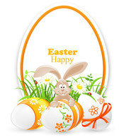 Free vector about vector colorful easter background