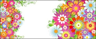 The colourful flower pattern